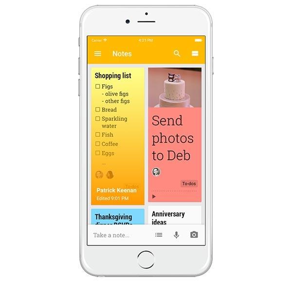 Google Keep, la app de notas de Google llega a iPhone