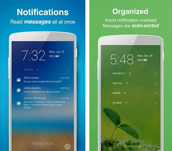 microsoft echo notification lockscreen