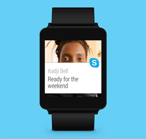 Así se puede utilizar Skype en los relojes inteligentes Android Wear