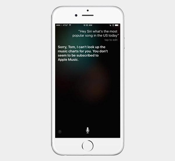 Siri sólo contestará a preguntas sobre música si has pagado por ella