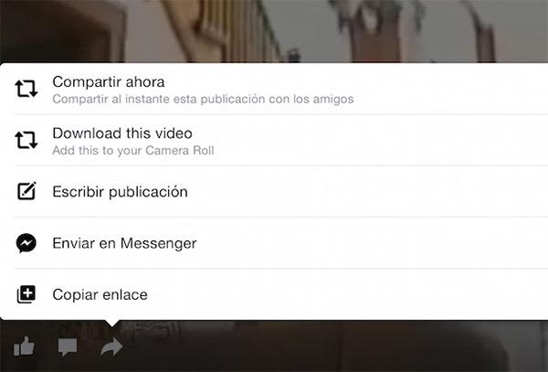 facebook descargar vídeos