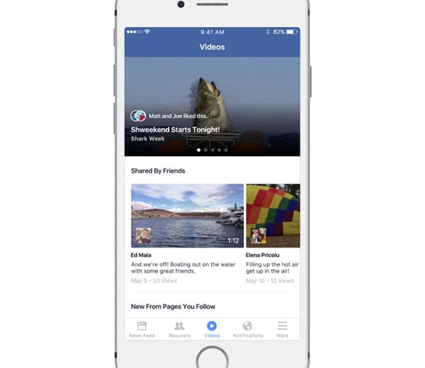 Facebook está probando una pestaña sólo para vídeos