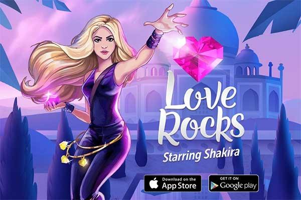 Love Rocks, el juego de puzles de Rovio y Shakira