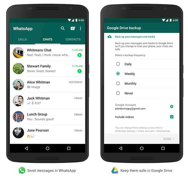 whatsapp google drive copia de seguridad