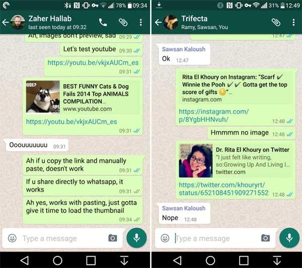 whatsapp previsualizar enlaces