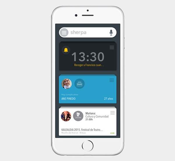 Sherpa Next, el asistente español llega a iPhone