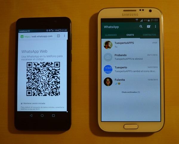 whatsapp dos cuentas