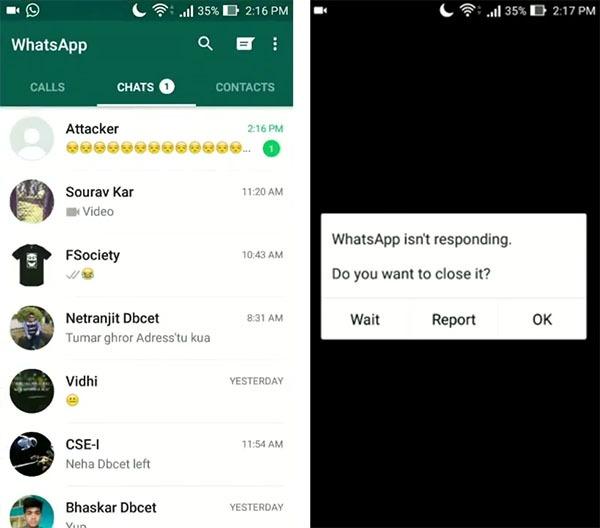 whatsapp bloqueo emoji