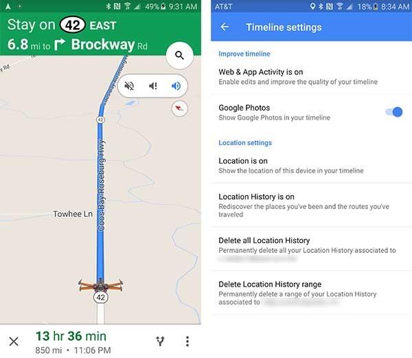 google maps modo conducción