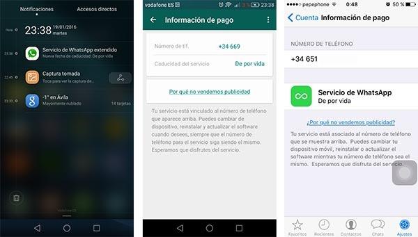 whatsapp gratis de por vida España