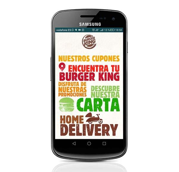 Burger King ya permite hacer pedidos a domicilio desde su app