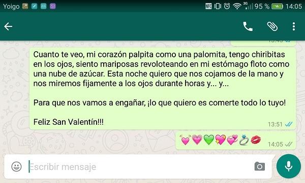 Felicitaciones de San Valentín para el WatshApp