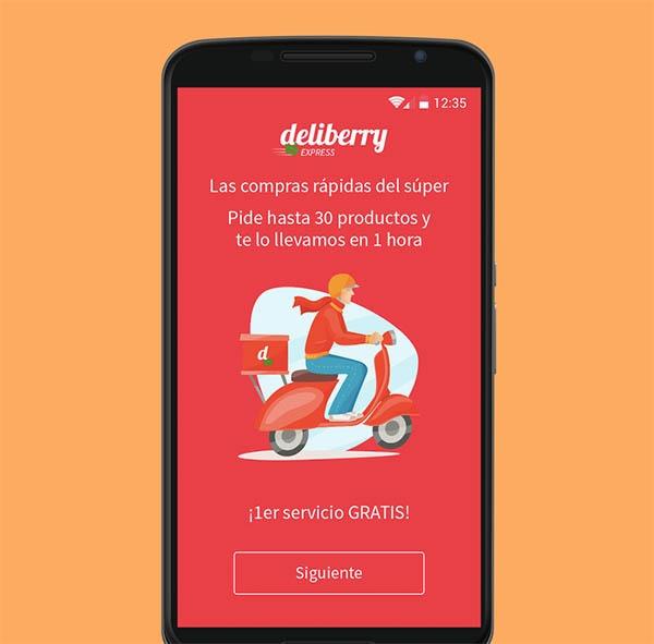 Deliberry, la app que te lleva la compra a casa en una hora