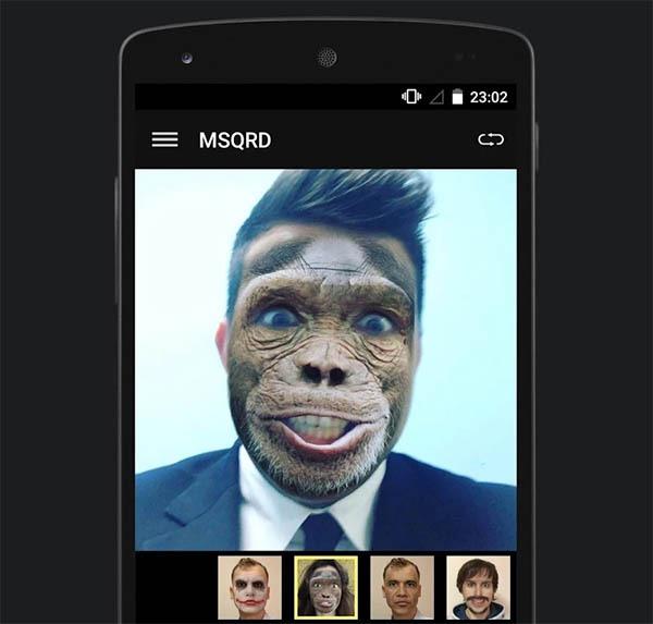 MSQRD, la app de máscaras que está causando sensación llega a Android