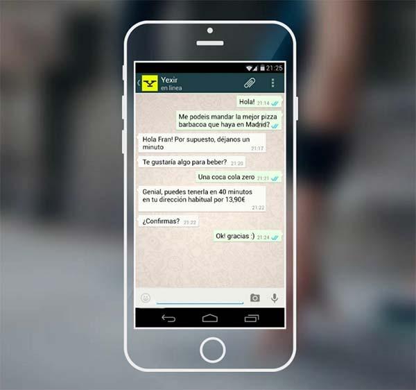 Yexir, pide lo que quieras a través de WhatsApp