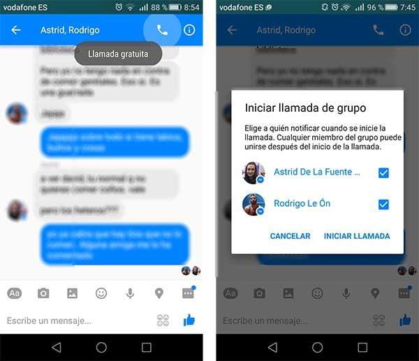 C mo hacer llamadas en grupo en facebook messenger for Grupo facebook