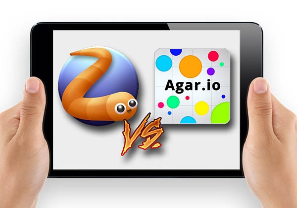 Slither.io vs Agar.io, serpientes contra células luchan para ser el mejor juego