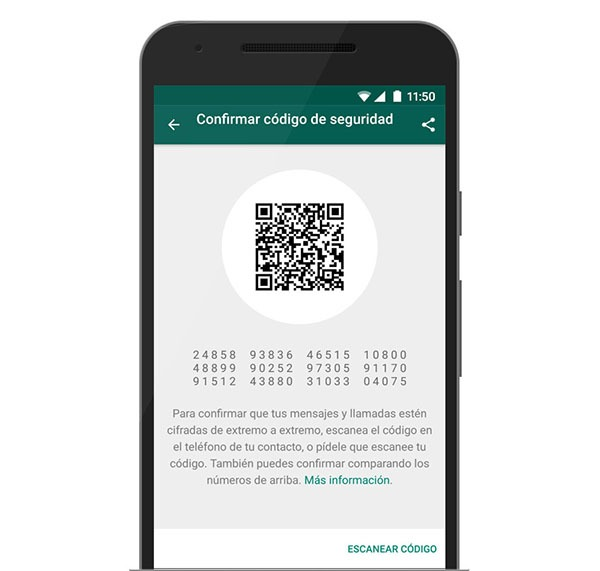 whatsapp confirmar seguridad
