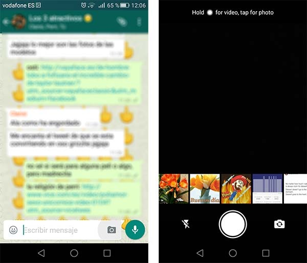 whatsapp interfaz fotos