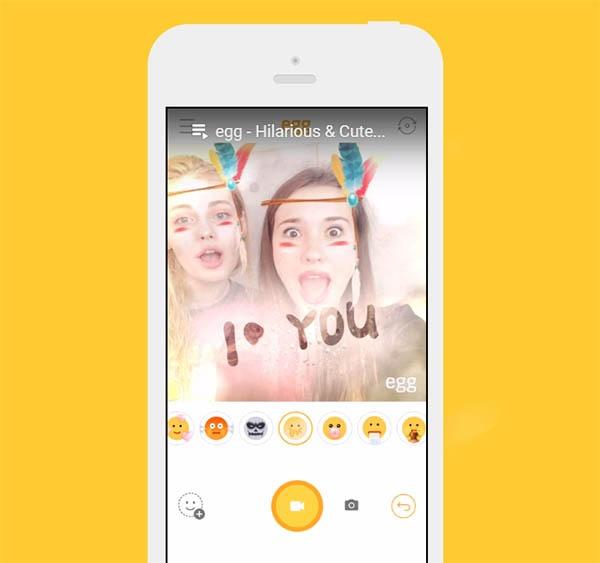 Egg, la aplicación de máscaras virtuales de LINE