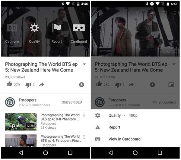 youtube nuevo menú configuración