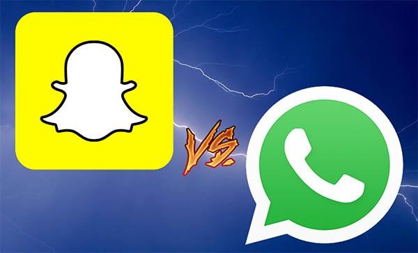 WhatsApp y Snapchat, las seis diferencias