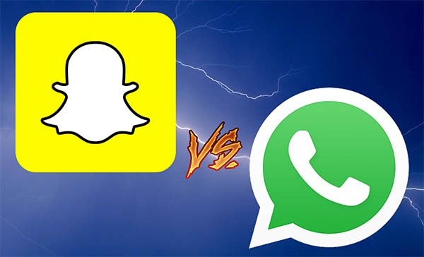 snapchat whatsapp diferencias
