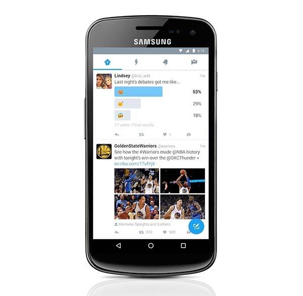 Este es el nuevo aspecto de Twitter en Android
