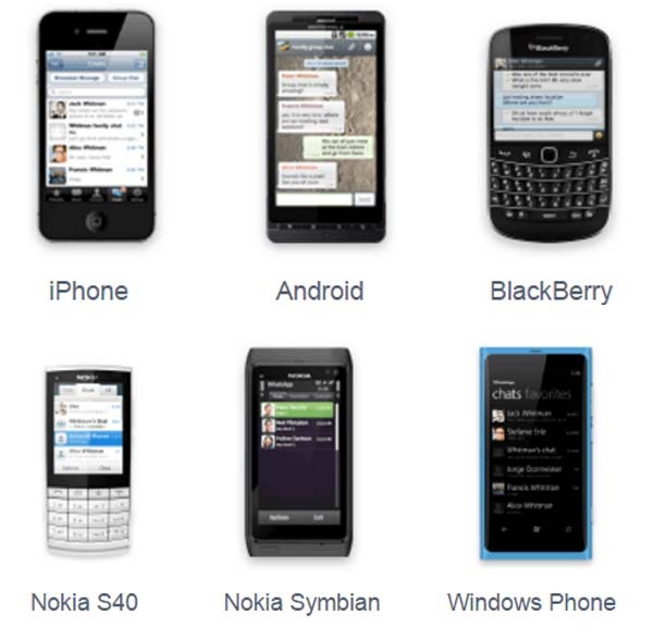 whatsapp plataformas antiguas