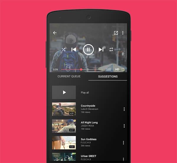 Cómo escuchar música de vídeos de YouTube con la pantalla del móvil bloqueada