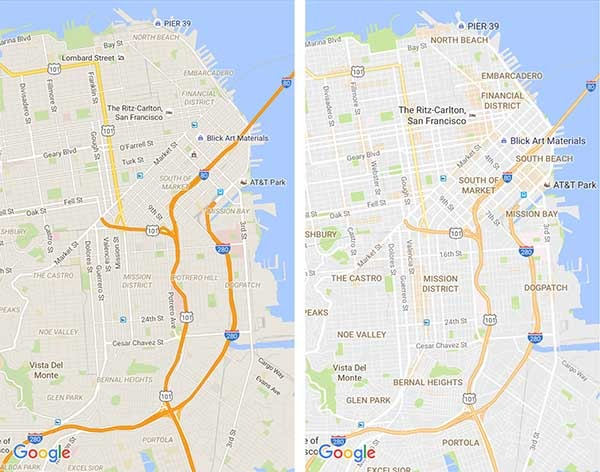 google maps nuevos mapas