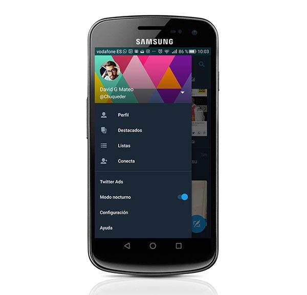 Así es el nuevo modo nocturno de Twitter en móviles Android