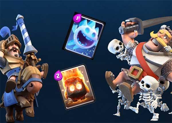 Cómo usar las cartas de espíritus de fuego y de hielo en Clash Royale