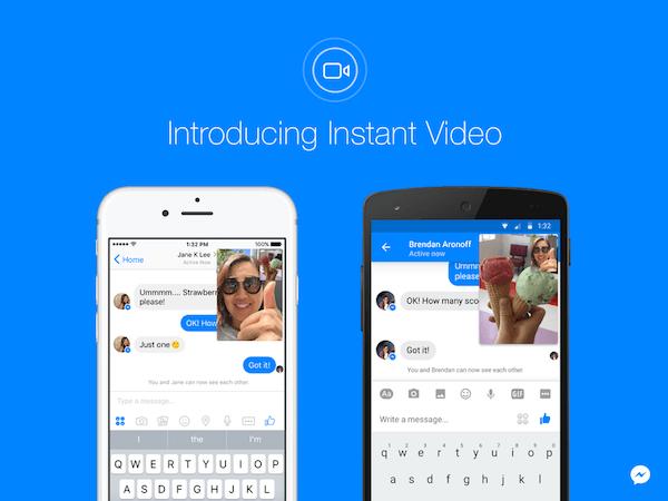 Así son los vídeos en directo del chat de Facebook Messenger
