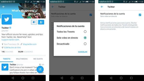 twitter notificaciones directos