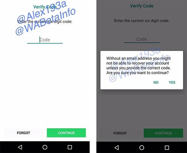 whatsapp verificación en dos pasos