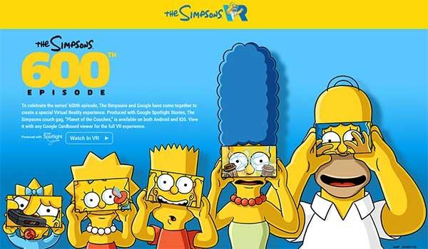 Cómo meterte en el salón de Los Simpsons con unas gafas de Realidad Virtual