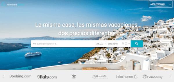 Hundredrooms, app para comparar casas y apartamentos de vacaciones