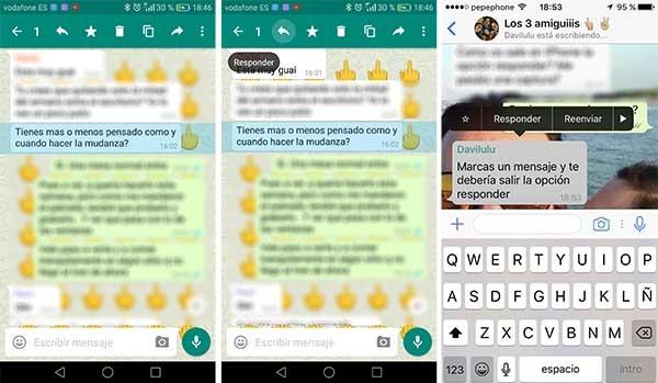 así se puede responder mensajes en WhatsApp