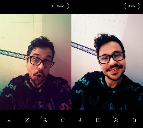 retrica selfie