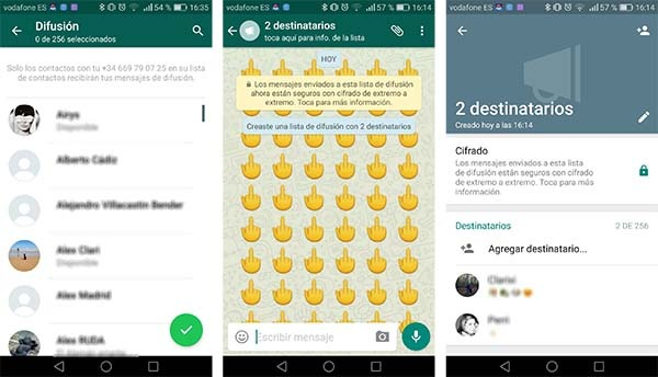 whatsapp grupos difusiones captura