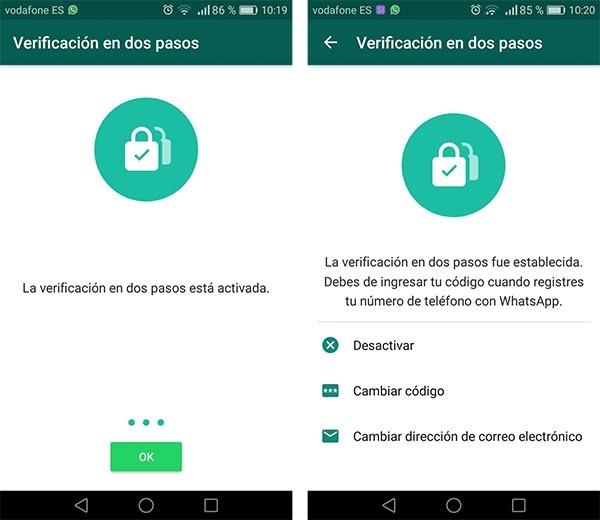 whatsapp verificación