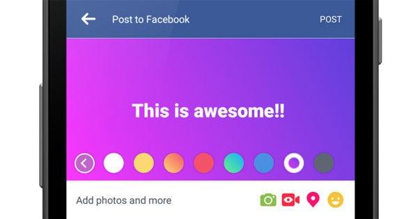 Facebook color estado