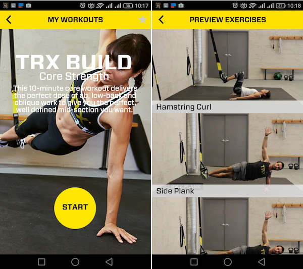trx app móvil