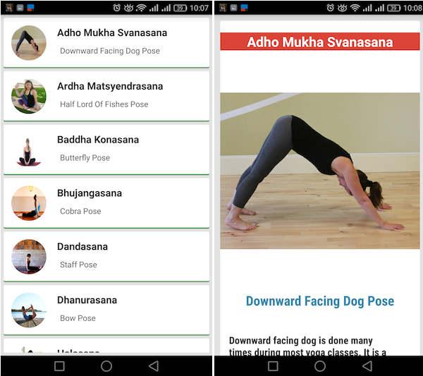 yoga app móvil