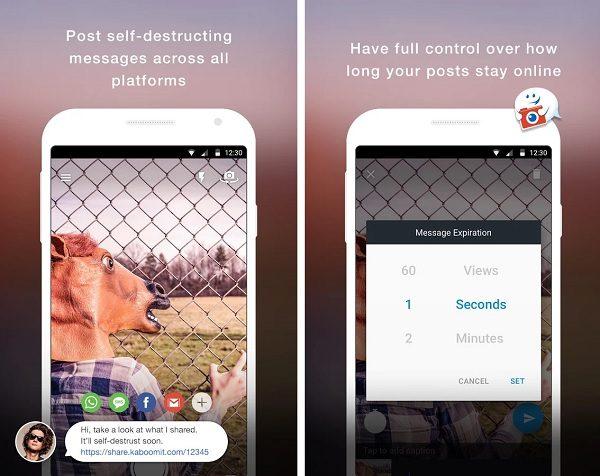 Kaboom, otra app de mensajes y fotos que se autodestruyen