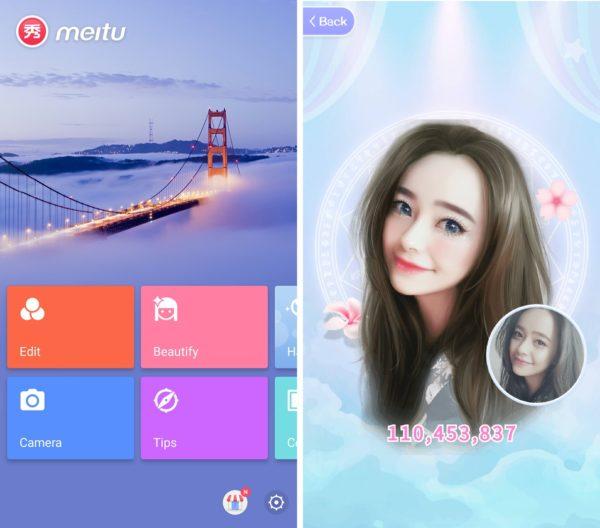 Meitu, la app de retoque fotográfico que causa furor