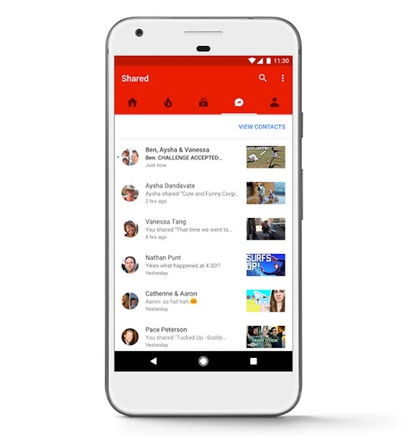 YouTube ya permite compartir vídeos y chatear con amigos desde su app