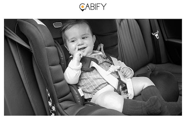 Cabify Baby, ahora los bebés y niños también tienen chófer