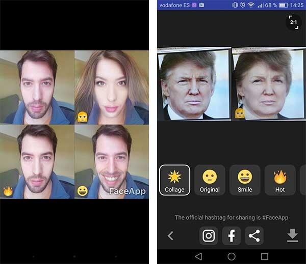 faceapp android resultado